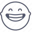 emoji, emotion, face, laugh, smile icon