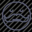 emoji, emotion, face, moustache, smile