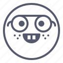 emoji, emotion, face, nerd, smile