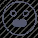 emoji, emotion, face, scream, smile