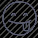 emoji, emotion, face, smile, tongue