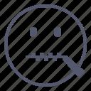 emoji, emotion, face, smile, zipped icon