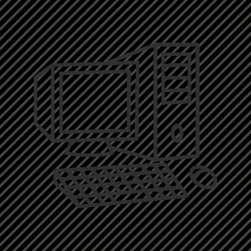 computer, desktop, display, monitor, pc, screen, server icon