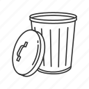 bin, can, delete, garbage, remove, trash, trashcan icon