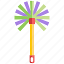 brush, cleaner, dust, duster, feather, household, maid icon
