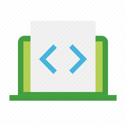 coding, development, engineer, implement, system icon