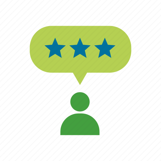 excellent, reviews, word of mouth icon