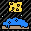 bath, cleaning, shower, sponge, washing icon
