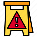 alert, cleaning, danger, sign, warning icon