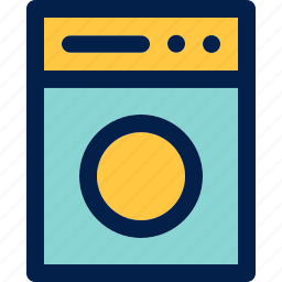 clean, laundry, washing machine icon
