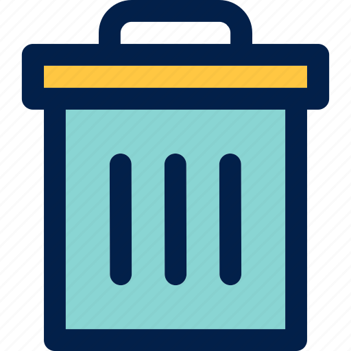 bin, garbage, trash can icon