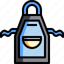 apron, chore, clean, cleaning, cloth, kitchen, maid icon