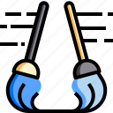 broom, chore, clean, cleaning, hygiene, mop, toilet