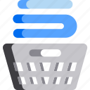 basket, clean, cleaning, cloth, laundry, wash icon