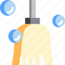 broom, chore, clean, cleaning, housekeeping, sweep icon