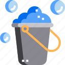 bubble, bucket, clean, cleaning, hygiene, washh icon