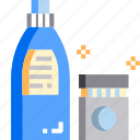clean, cleaning, detergent, laundry, liquid, wash icon