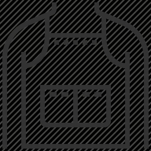 apron, cloth, uniform, wear icon