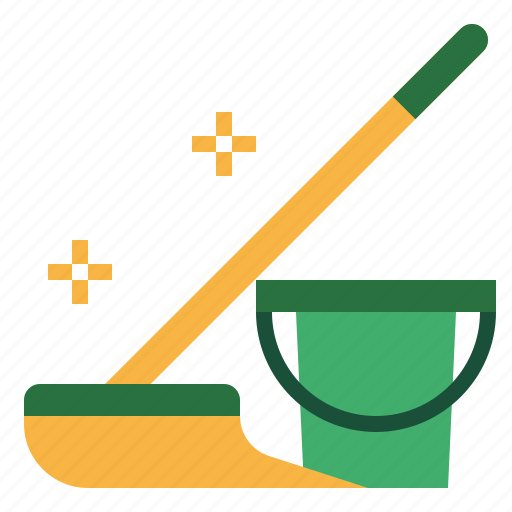 clean, equipment, floor, mop, wet icon