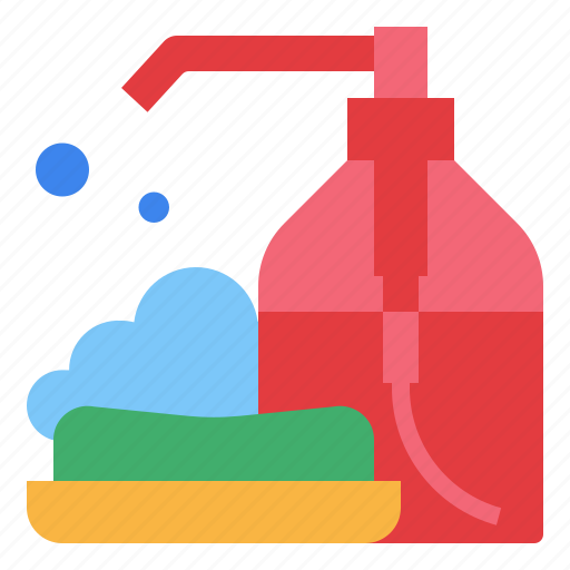 Clean, health, hygiene, soap, wash, water icon - Download on Iconfinder