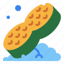 clean, dish, scrub, sponge, wash icon