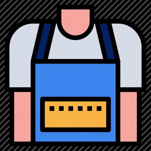 apron, chef, cook, kitchen, uniform icon