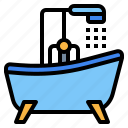 bathroom, bathtub, shower icon