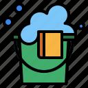 bucket, plastic icon