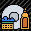 clean, dish, kitchen, wash icon