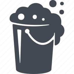 bucket, cleaning, foam, the washing up icon