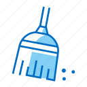 broom, cleaning, household, housework, sweep icon