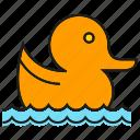 animal, cute, dive, duck, swim icon
