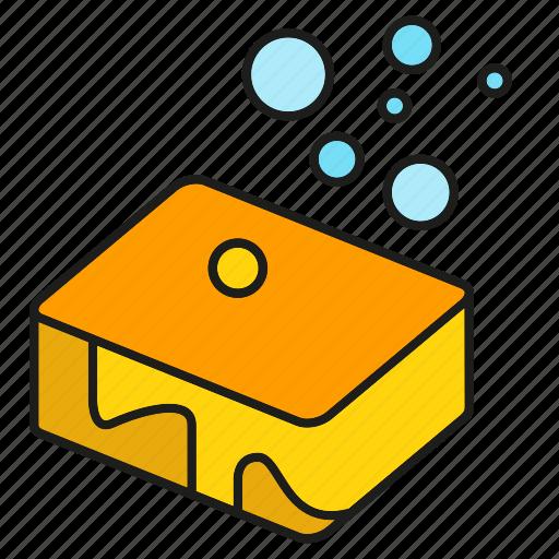 bubble, cleaning, foam, scrub, soap, sponge, wash icon