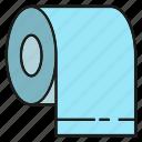 household, hygiene, paper, sanitary, tissue, toilet, toilet paper icon