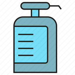 bottle, container, gel, shampoo, spray, wellness icon