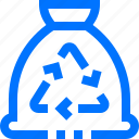 bags, cleaning, garbage, optometry, recycle, reuse, trash icon