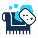 clean, carpet, bubble, cleaning, wash, sponge, rug icon