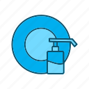 cleaning, cleaning dish, cleaning icon, dish