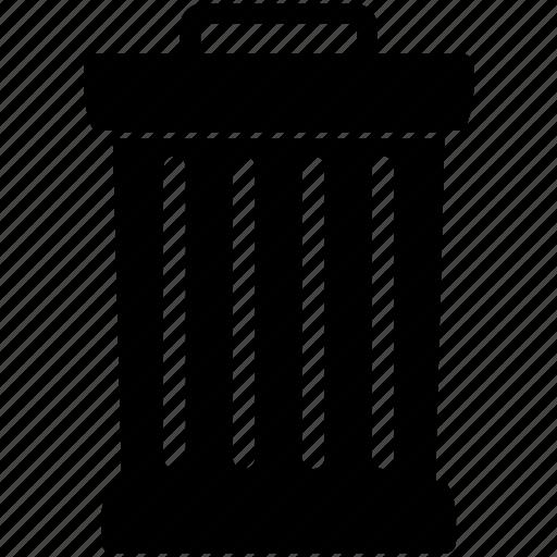 bin, close, empty, full, garbage, litter, trashcan icon