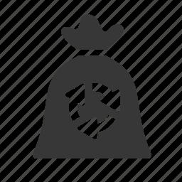 bag, recycle, trash icon