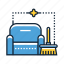 cleaning, furniture, sofa icon