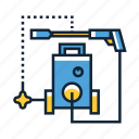 high, pressure, washer icon