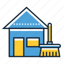 cleaning, home, house icon