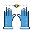 gloves, latex, protection icon