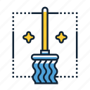 broom, mop, sweeper icon