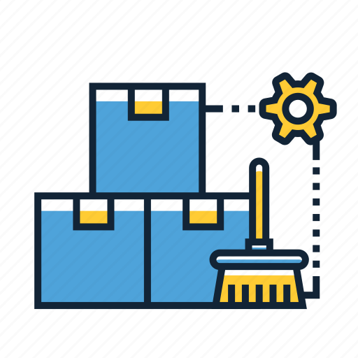 cleaning, movers, moving icon
