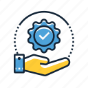 assurance, certificate, quality icon