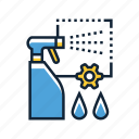 cleaning, detergent, spray icon