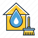 cleaning, damage, water icon