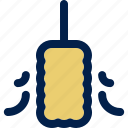 broom, brush, cleaning, duster, feather, maid, service icon